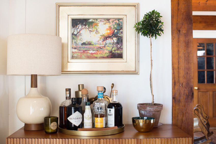 A Piece Of Art That Holds Special Memories Hangs Above The Bar On Design*Sponge