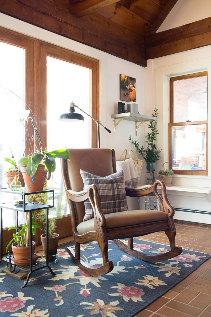 A Vintage Inspired Rocking Chair In This Charming Maine Home On Design*Sponge
