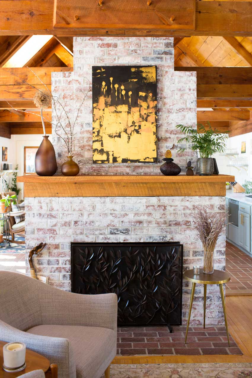 An Updated Fireplace Creates A Lighter Living Room In This Maine Home With Tour On Design*Sponge