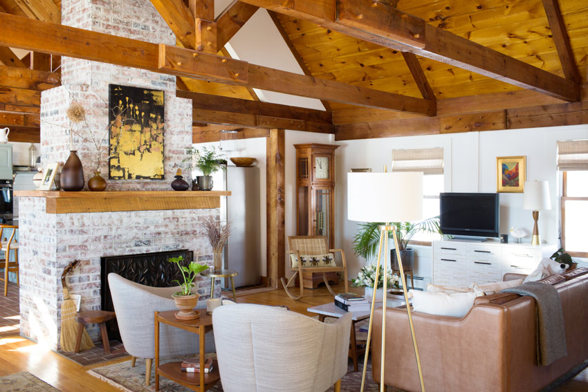 Beautiful Beams Are Featured Throughout This Maine Home On Design*Sponge