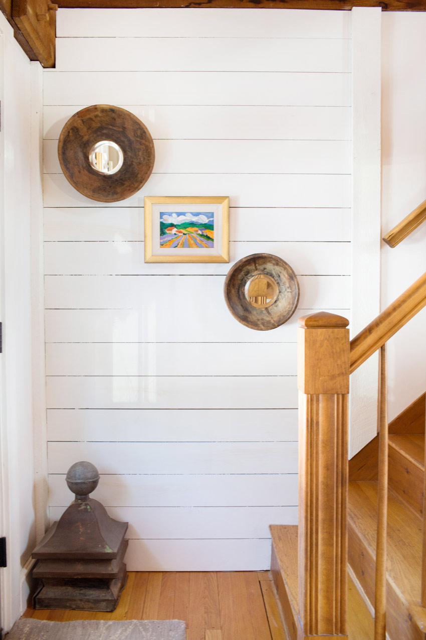 Living Room Stairwell In Classic Cape Cod Home On Design*Sponge