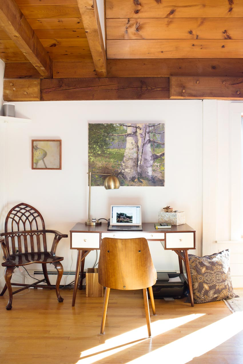 Michelle Peele's Office Features Natural Light And One Or Two Dogs Home Tour On Design*Sponge