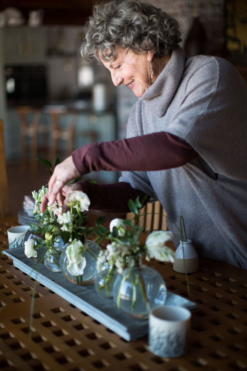 Michelle Peele Working On A Floral Design In Her Maine Home On Design*Sponge