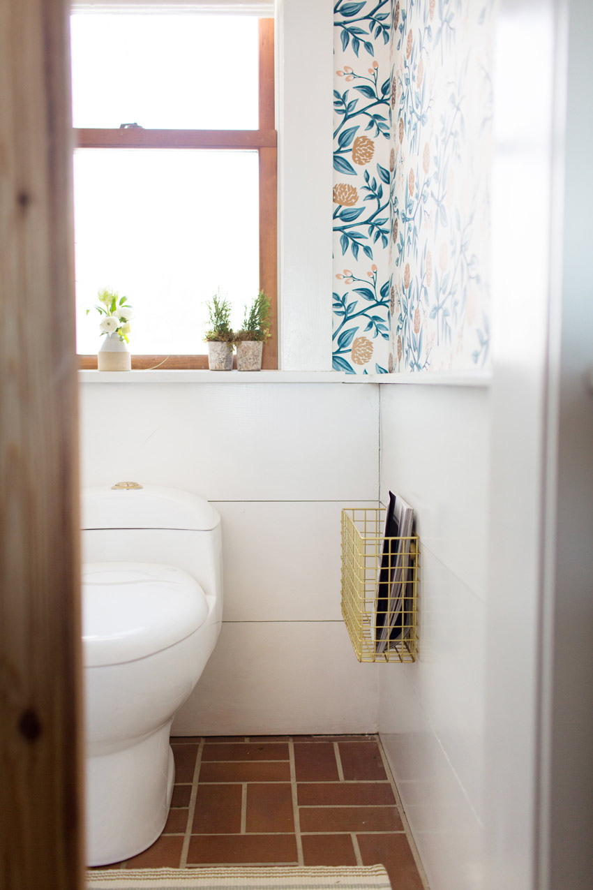 The Newly Updated Powder Room In This Maine Home On Design*Sponge