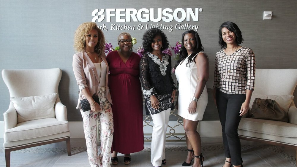 Image Above: Members Of Black Interior Designers Network At A Ferguson  Event Exclusively For BIDN.