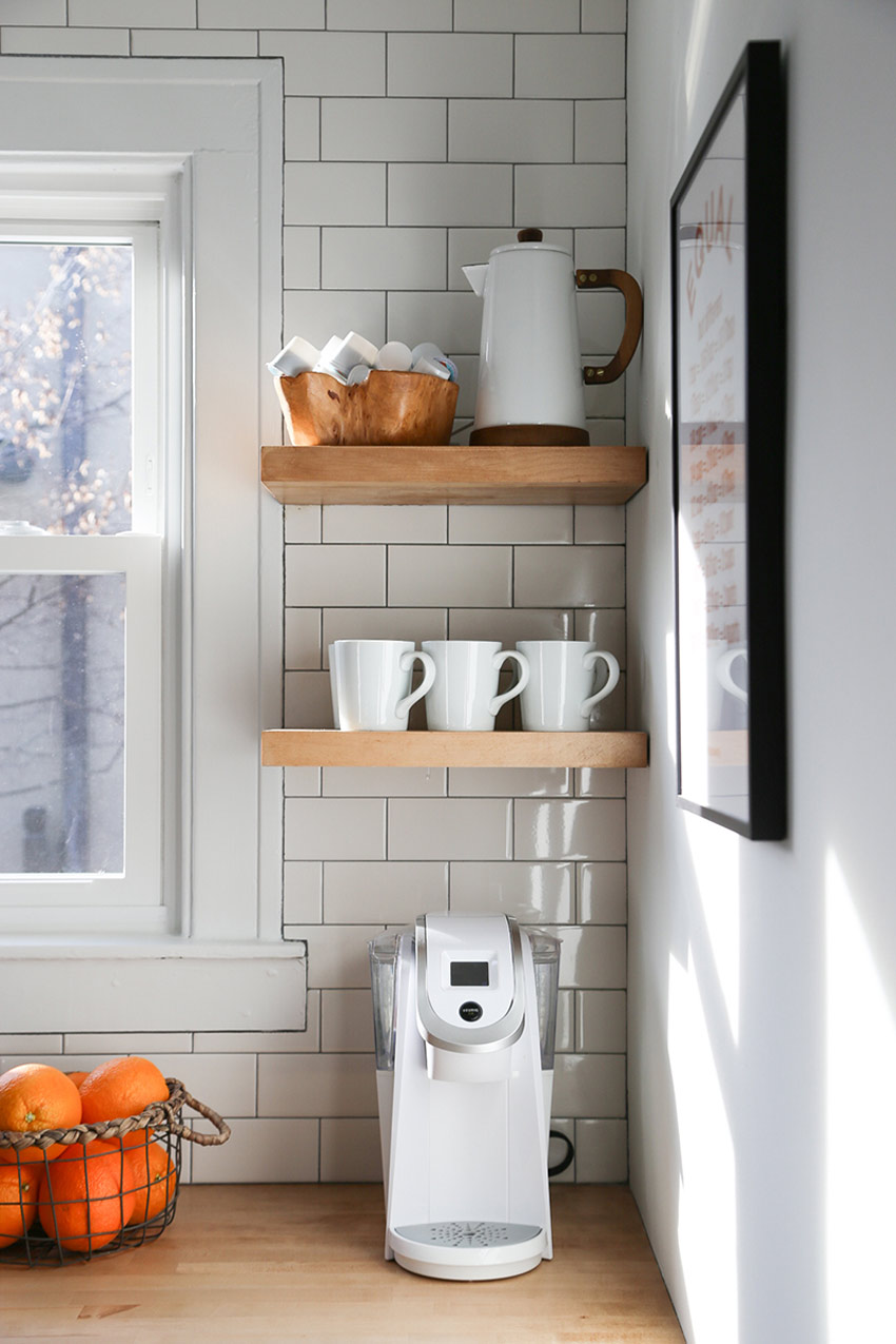 Extra Countertops Create Corner Shelving Before And After On Design*Sponge