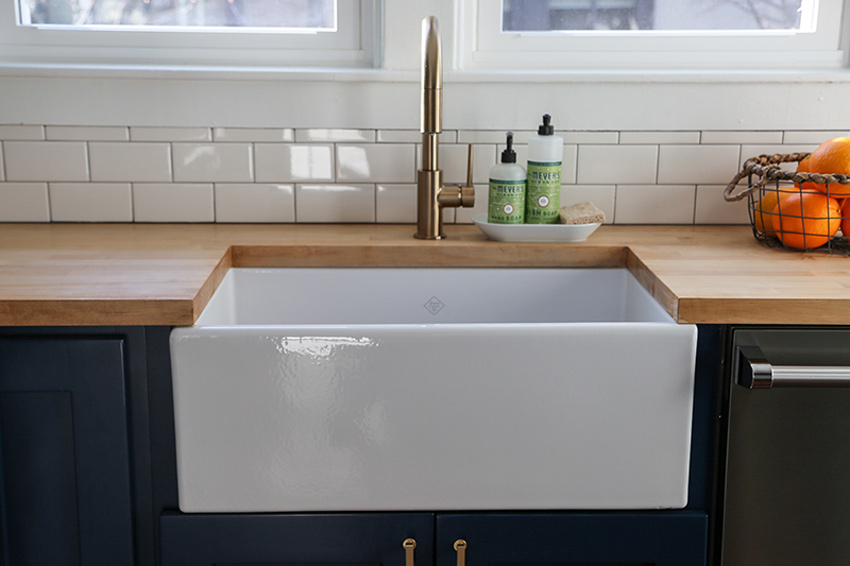A New Sink Was An Upgrade The Homeowners Were Particularly Excited For Full Before And After Tour On Design*Sponge
