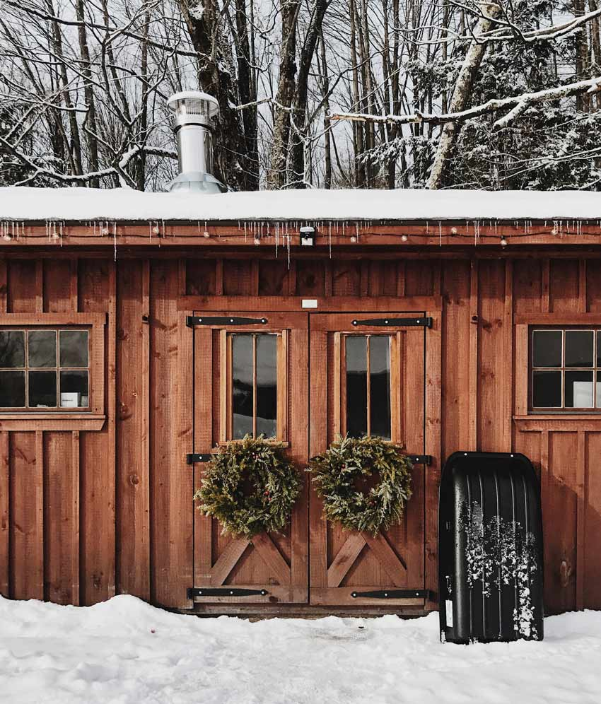 A Shed Was Converted To Be A Winter Cabin For This Couple In Vermont Tour On Design*Sponge