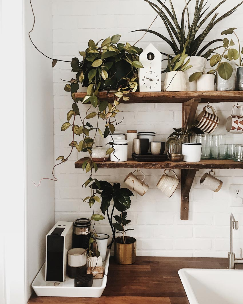 Kitchen Shelving In The Winter Cabin On The Sugarhouse Homestead Tour On Design*Sponge