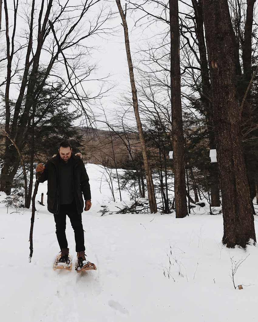 Brett Snowshoeing On Their Property In Vermont Tour On Design*Sponge