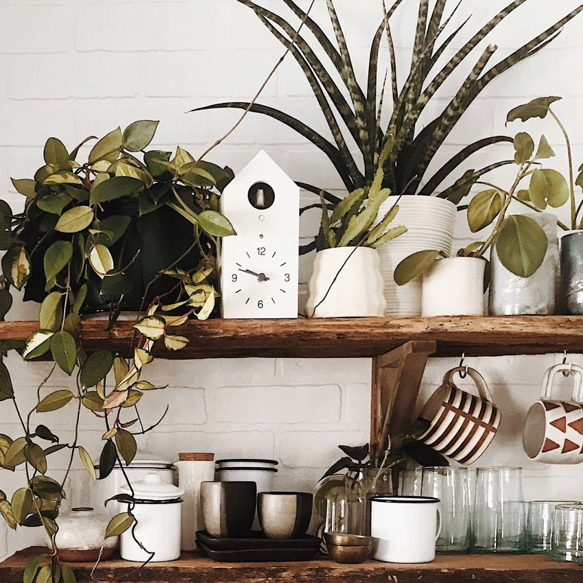 The Kitchen Shelving Displays Meaningful Pieces In The Sugarhouse Homestead Cabin Tour On Design*Sponge
