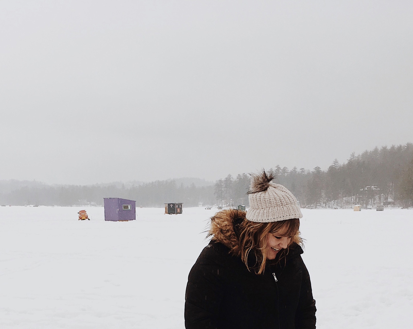 Natasha Visiting A Local Ice Fishing Spot Their Homestead On Design*Sponge
