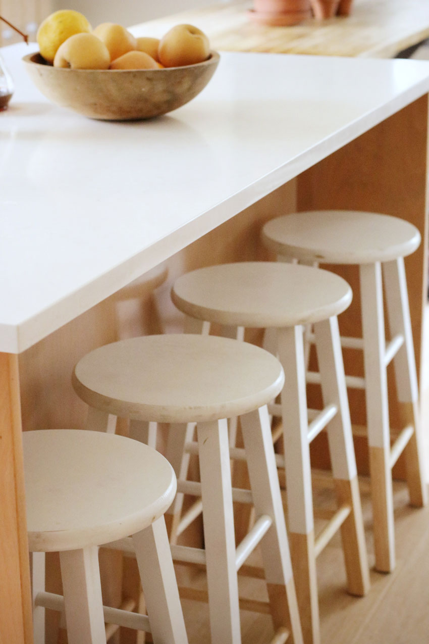 Kitchen Stools Slide Under The Island Counter In This Kitchen Before And After On Design*Sponge