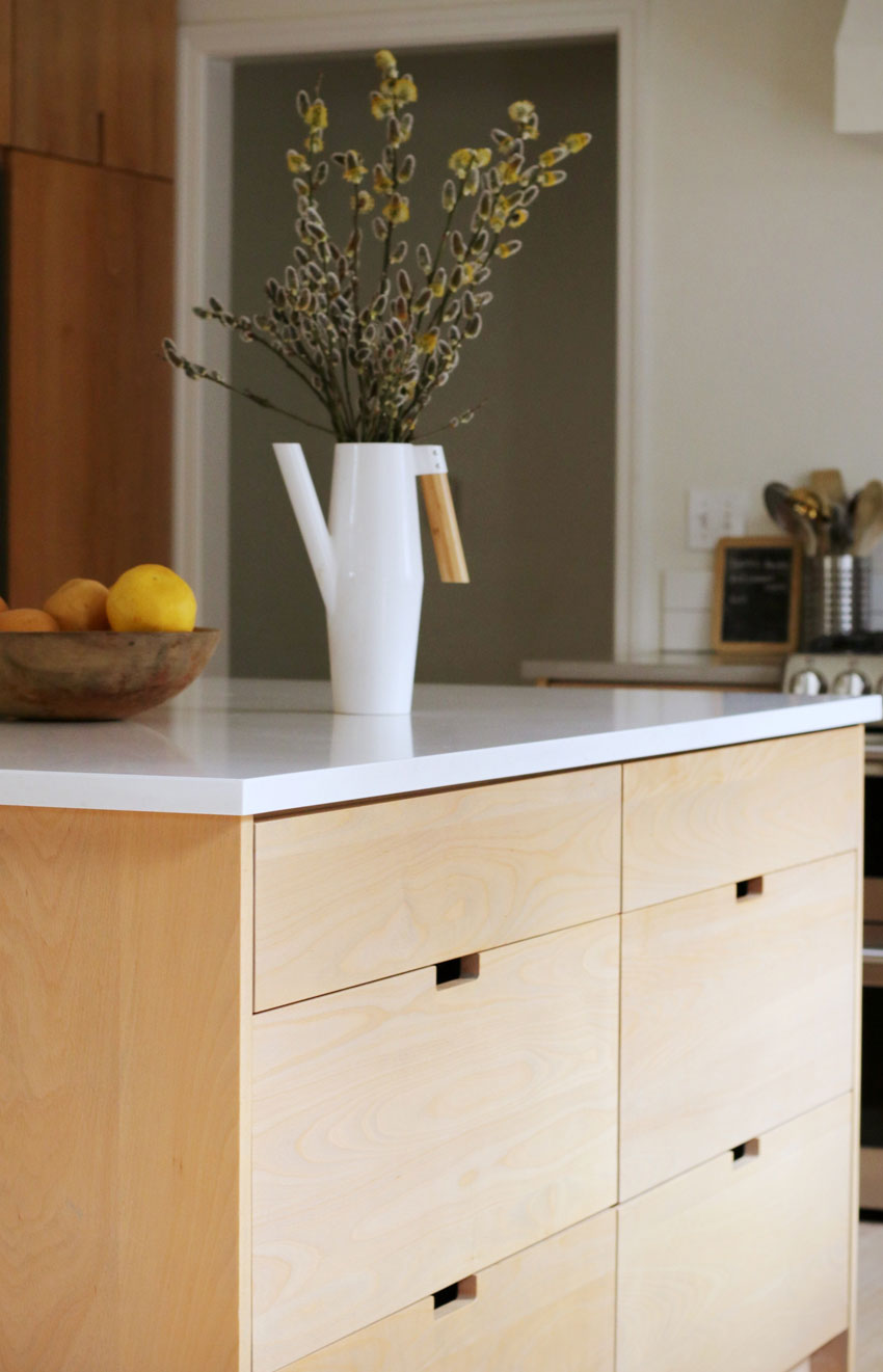 An Understated Kitchen Island In A Portland Kitchen Before & After On Design*Sponge