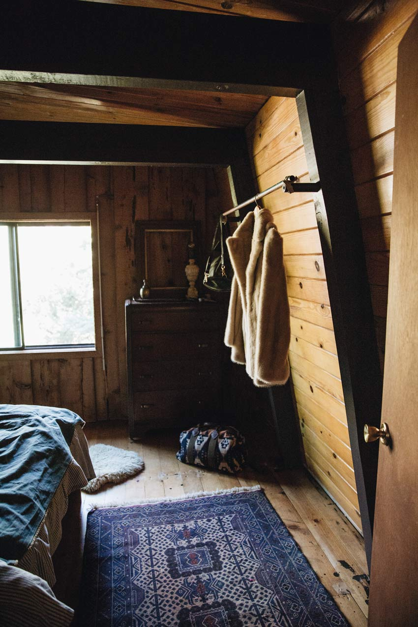 Wood Tones In The Main Bedroom Of This 1976 Cabin In Big Bear City On Design*Sponge