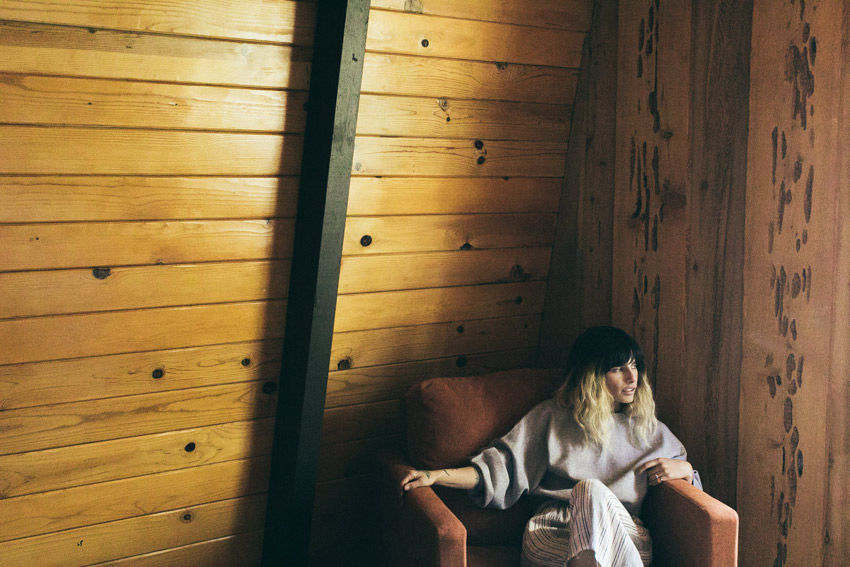 Rachael Reflecting In Her Cabin In Big Bear Tour On Design*Sponge