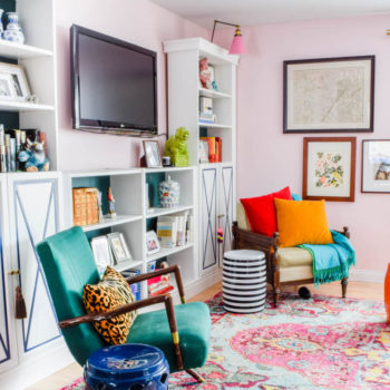 A Military Base Home Infused with Cheerful Color
