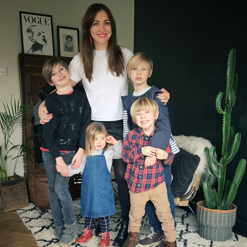 Amy And Her Children In The Newly Renovated Home Before & After On Design*Sponge