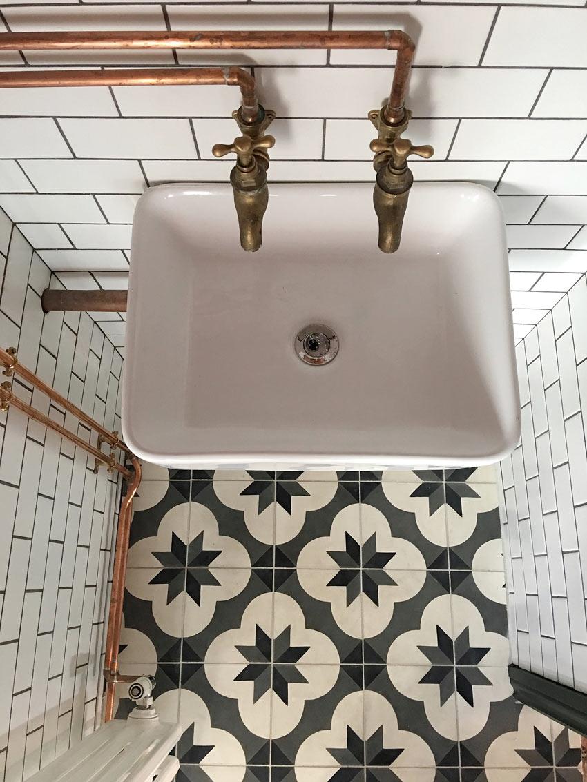 A Tiny Tiled Powder Room Before And After On Design*Sponge