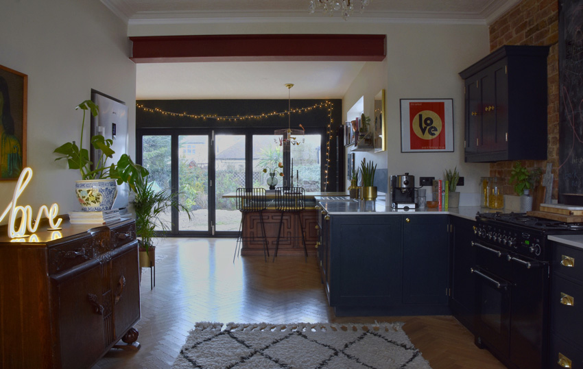 A Wide Shot That Shows The View From The Dining Room Towards The Yard The Full Kitchen Before & After Is On Design*Sponge