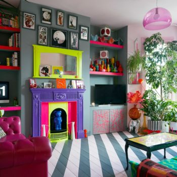 In London, a Color-Clashing Punk's Bright & Vivacious Flat