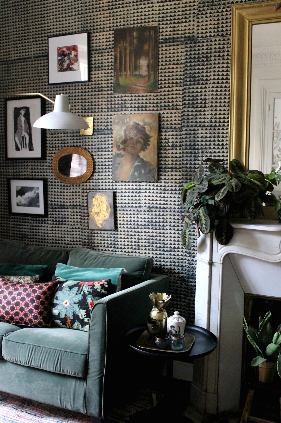 captivating jl deniot paris living room apartm | In Paris, an Apartment Drenched in Wallpaper is a Dream ...