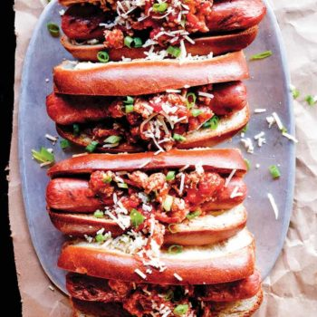 Spicy Chicken Chili Dogs to Kick off Summer + Giveaway