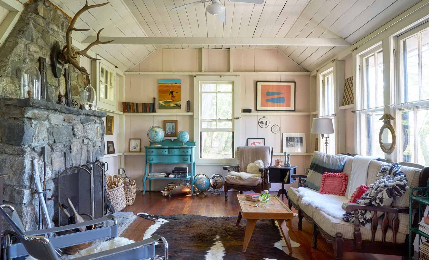 Unplugging in a Rustic Hudson Valley Retreat, Design*Sponge