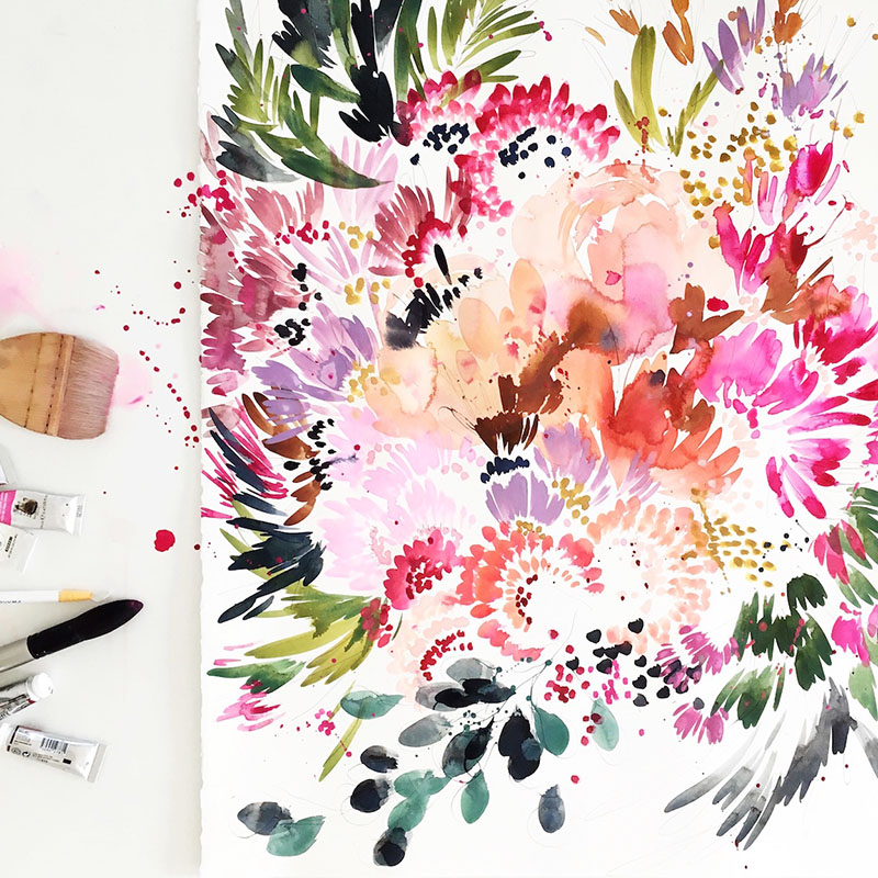 Before we head out for the weekend, I wanted to share these beautiful new wallpaper designs from Kelly Ventura that debuted at this year's iCFF.