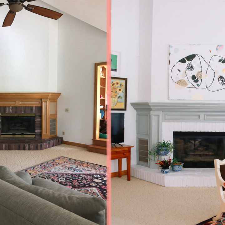Before & After: A 1990s Suburban Home Gets a Colorful Makeover