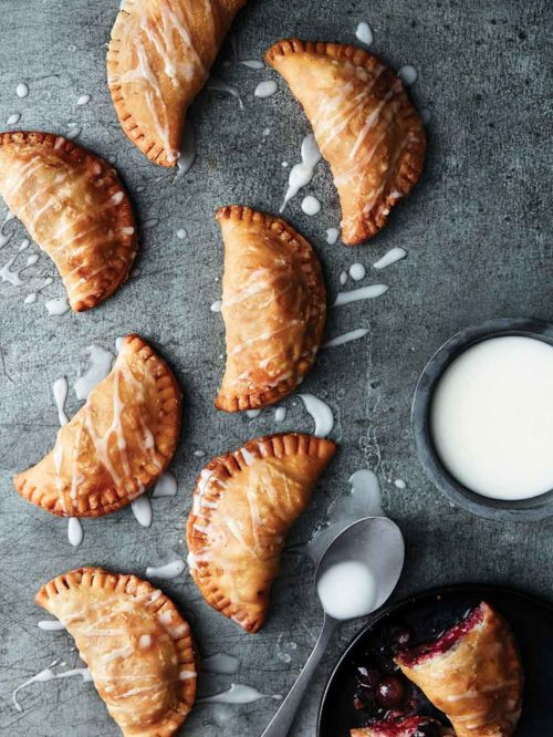 Crispy Fried Blueberry Pies With Meyer Lemon Glaze + Giveaway