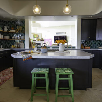 Before & After: A Bold Kitchen to Match an Artist's Blooming Home