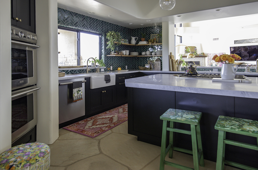 Before and After: A Bold Kitchen to Match a Artist's Blooming Home | Design*Sponge