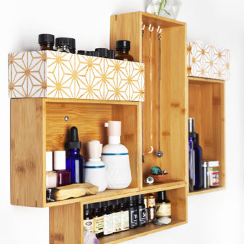 DIY Wood Drawer Wall Shelf