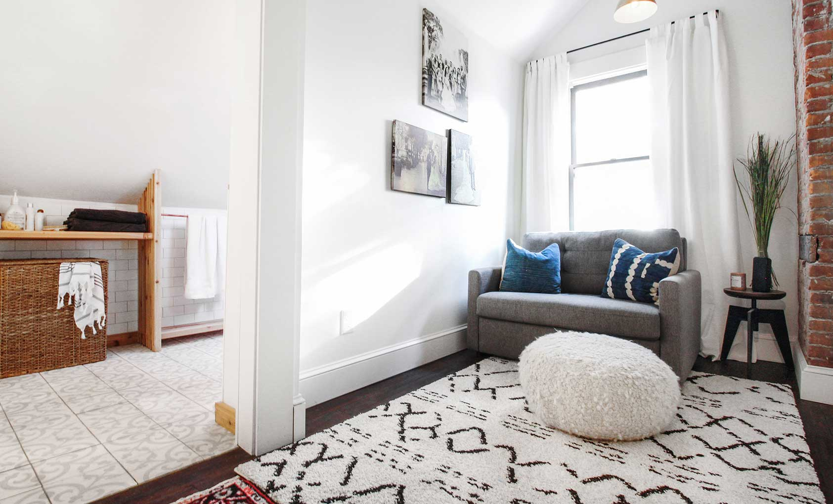 Before & After: A Sunny Guest Suite Basically From Scratch, Design*Sponge