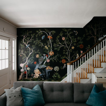 Before & After: An Entryway Gets A Moody, Floral Makeover