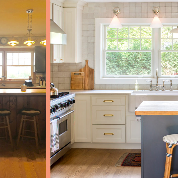 Before & After: A Well-Loved Kitchen Gets An English Cottage Upgrade