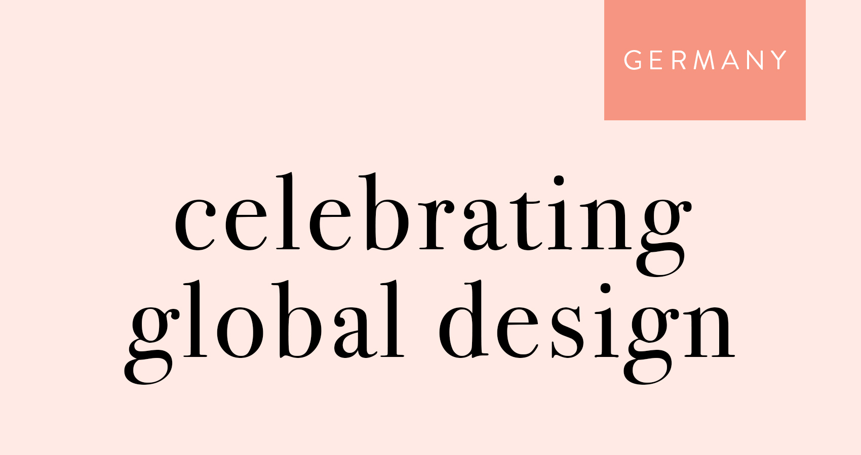 Celebrating Global Design: Germany, Design*Sponge