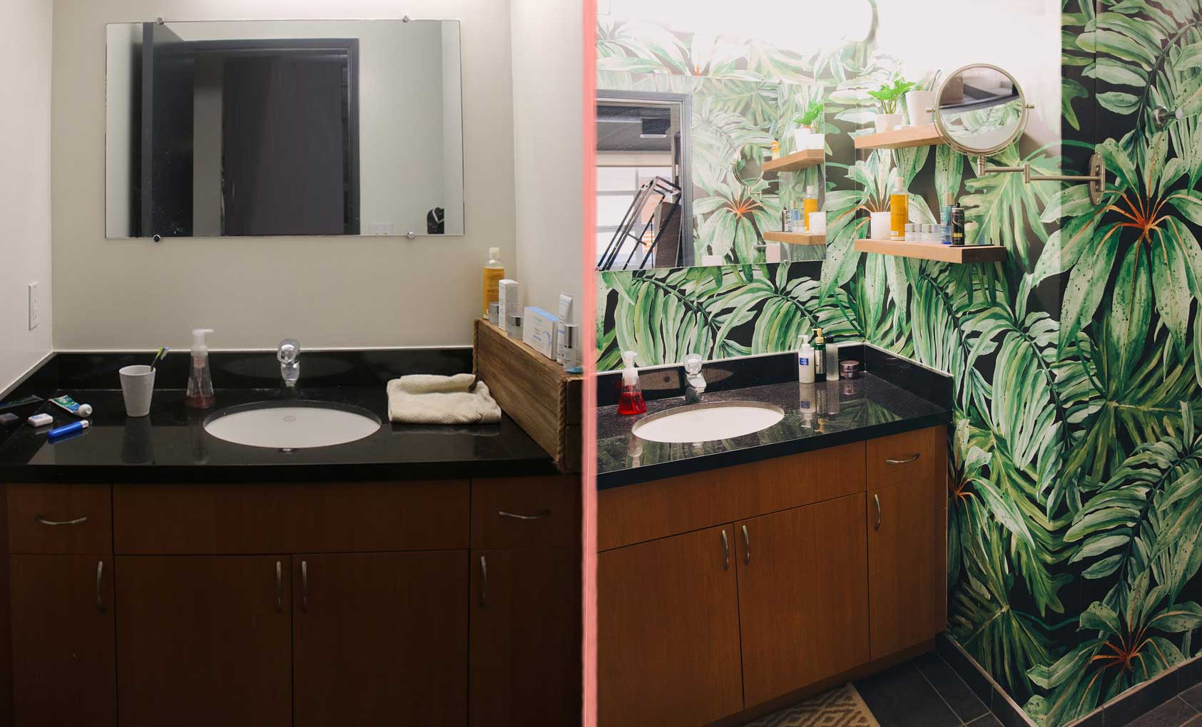 Before & After: A Rental Bathroom Gone Wild, Design*Sponge