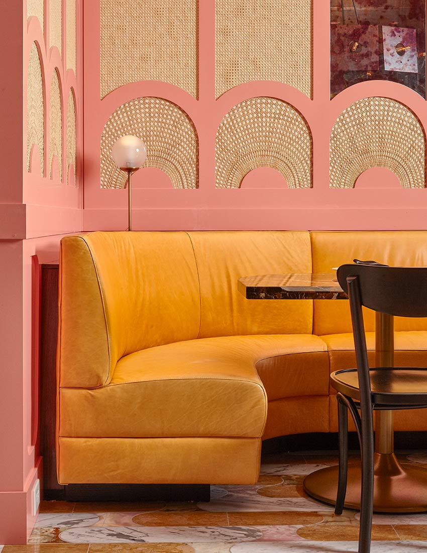 Retro Nouveau Style at Philadelphia, PA Restaurant Louie Louie, Design*Sponge
