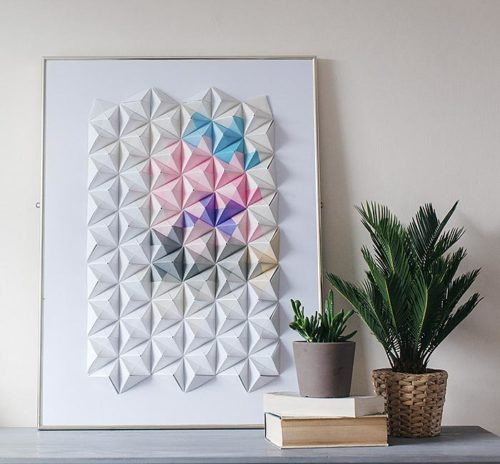 Top 20 DIY Projects of All Time: #13 Origami Wall Display