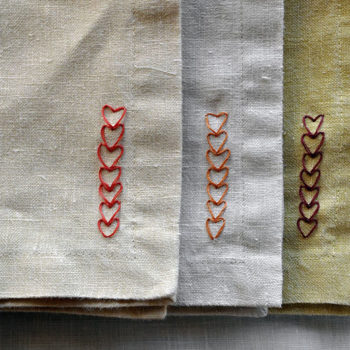Top 20 DIY Projects of All Time: #10 Chain of Heart Napkins