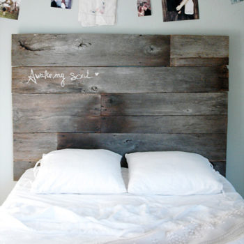 Top 20 DIY Projects of All Time: #12 Salvaged Barnwood Headboard