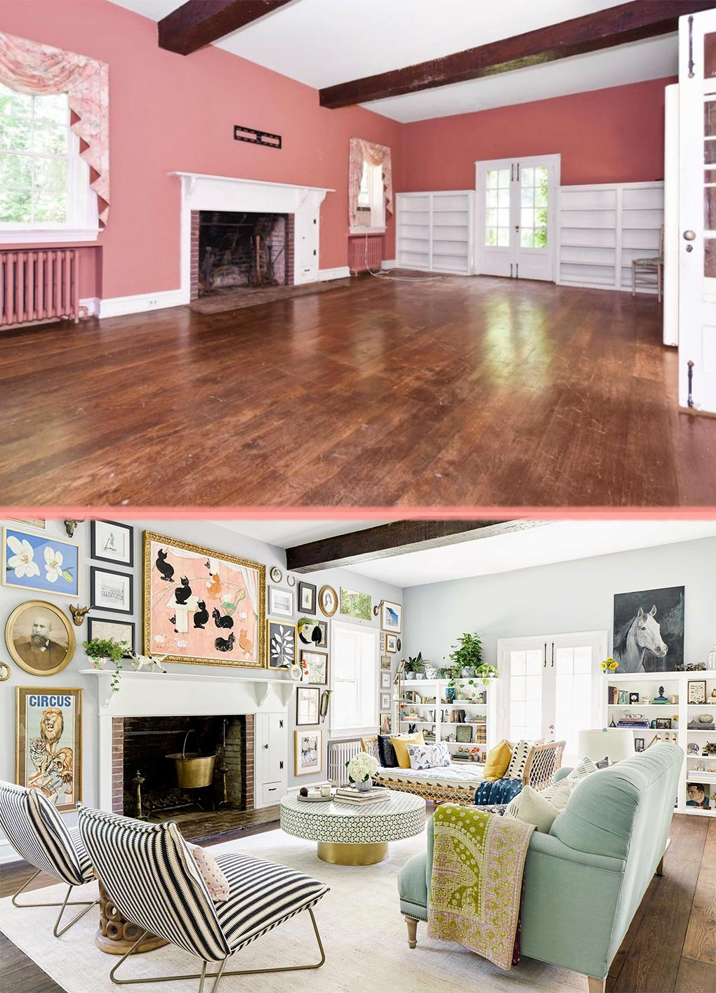 Before & After: Bringing Personal Style to a Traditional Home ...
