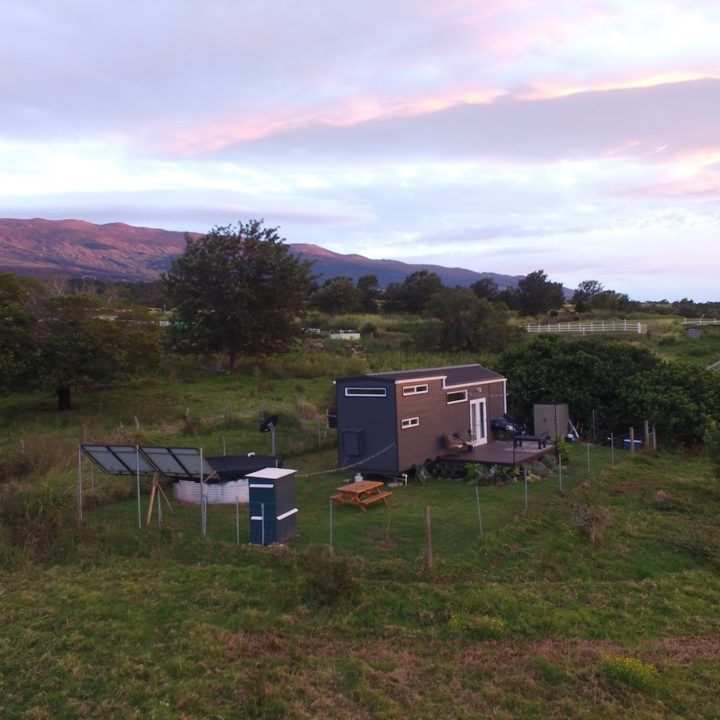 A Tiny House on Maui Surrounded by Pasture Land