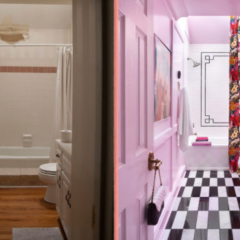 Before & After: A Builder-Grade Bathroom Gets A Glamorous Makeover