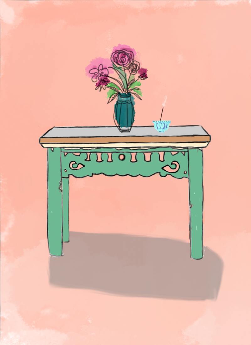That One Piece The Sea Green Table At The End Of The Rainbow Design Sponge