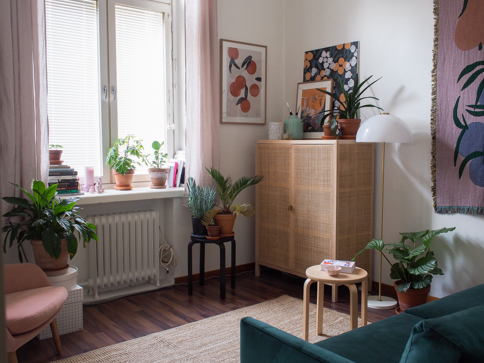 A Finnish Illustrator's 280-Square-Foot Apartment Comes into Bloom | Design*Sponge