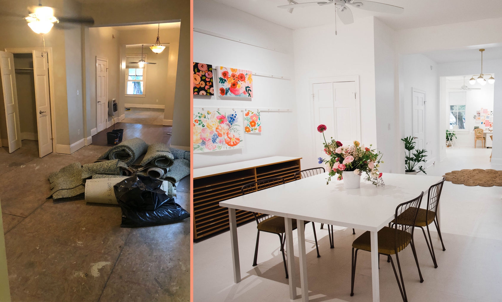 Before Amp After A Drab Studio Becomes A Fresh Backdrop For