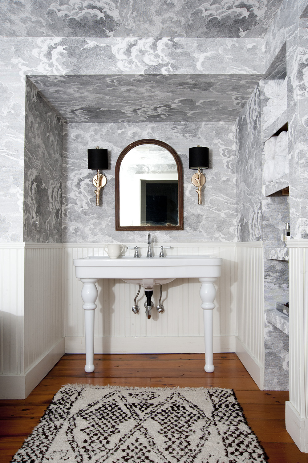 Before After Grace And Julia S Stormy Bathroom Design